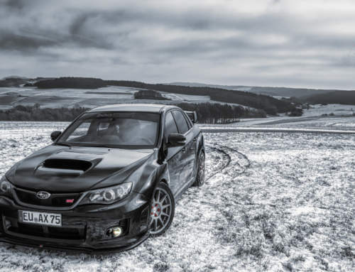 Wieder ein Subaru, wieder Winter, wieder in der Eifel!